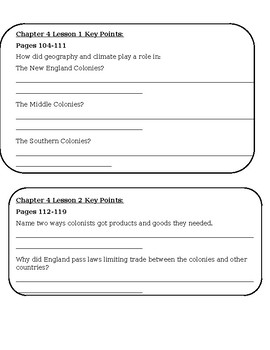 My World Social Studies Chapter 4 Test and Review