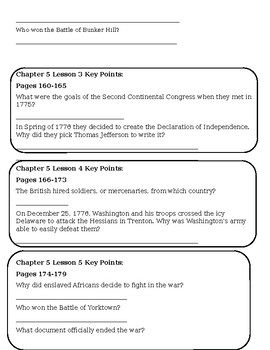 My World Social Studies Chapter 5 Test and Review