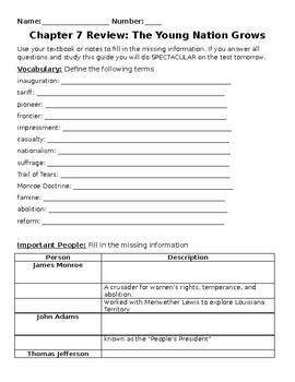 My World Social Studies Chapter 6 Test and Review
