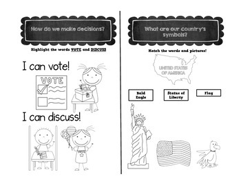 My World Social Studies Kindergarten Notebook - Unit 1: My Family, My School