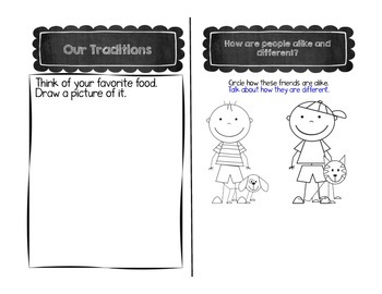 My World Social Studies Kindergarten Notebook - Unit 4: Our Traditions
