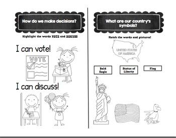 My World Social Studies Kindergarten Notebook - Units 1-5