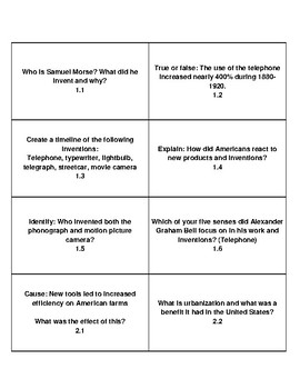 My World Social Studies Texas Task Cards Chapter 11