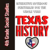 4th Grade My World Texas: No Prep Interactive Notebook Act