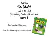 My World Vocabulary Cards Grade 3 SAMPLE