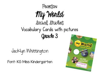 My World Vocabulary Cards Grade 3