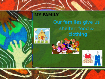 My World and Me ... a Social Studies PPT for PreK-First Grade