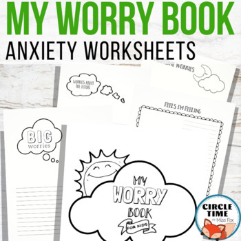 Anxiety Worksheets, Anxiety Workbook, Coping with Stress, Anxiety Coping Skills