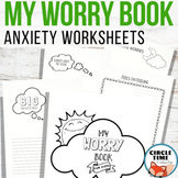 My Worry Book for Kids - Anxiety Worksheets / Workbook for