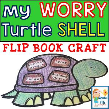 My WORRY Turtle Shell: Flip Book Art Craft