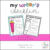 My Writer's Checklist