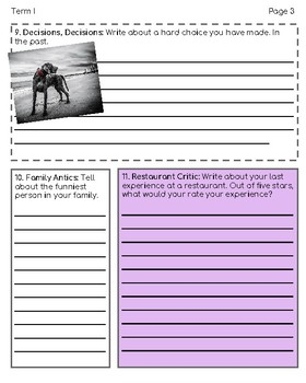 My Writer's Notebook: 120 Student Journaling Prompts