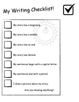 My Writing Checklist