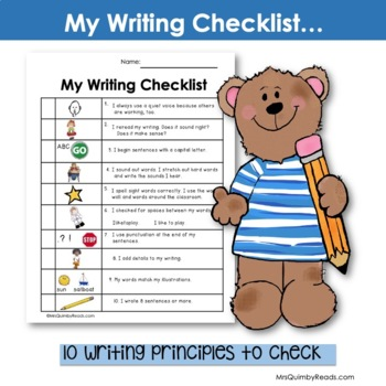 Writing Checklist -[First and Second Grade]