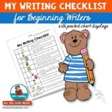 Writing Checklist | Beginning Writers |  [Writing Workshop]