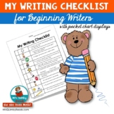 Writing Checklist | Beginning Writers |  [Writing Workshop]