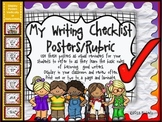My Writing Checklist Posters/Rubric (Multi-Colored Background)