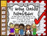 My Writing Checklist Posters/Rubric (Red Background)