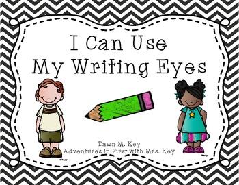 My Writing Eyes {Black and White Chevron}