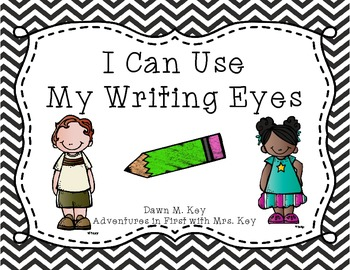 My Writing Eyes {Black and White Chevron}