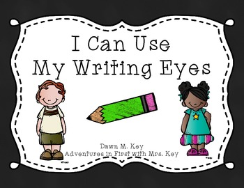 My Writing Eyes {Chalkboard}