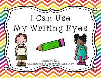 My Writing Eyes {Rainbow Chevron}
