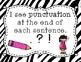 My Writing Eyes {Zebra}