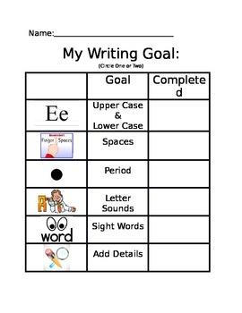 My Writing Goal Basic (Kindergarten)