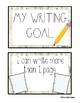 My Writing Goals (Clip Chart) - Small chart