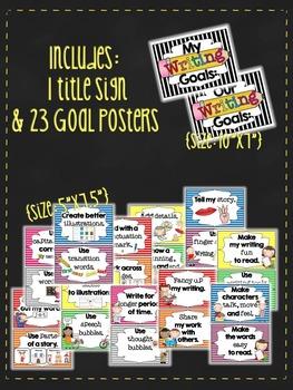 My Writing Goals {A 24 Piece Bulletin Board Set & Chart Parts}