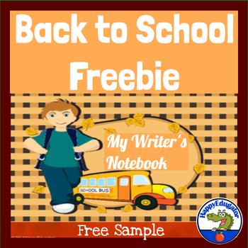 Free Back to School Writing Organizer