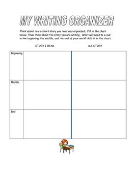 Free Resource Back to School Writing Organizer