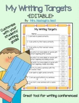 My Writing Targets *EDITABLE!*