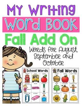My Writing Word Book {Fall Add On Edition}