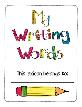 My Writing Words A Personal Dictionary For Primary