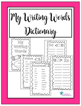My Writing Words Dictionary