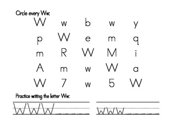 My Ww Book {letter study / sight word here}