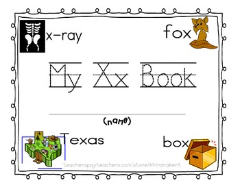 My Xx Book {letter study & sight word this}