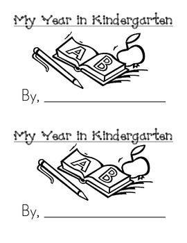 Sight Word Emergent Reader: My Year In Kindergarten (was)