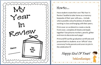 FREE My Year In Review Student Memory Book