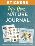 My Year Nature Journal Free Printable STICKERS!