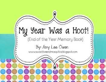 My Year Was a Hoot! (Memory Book)
