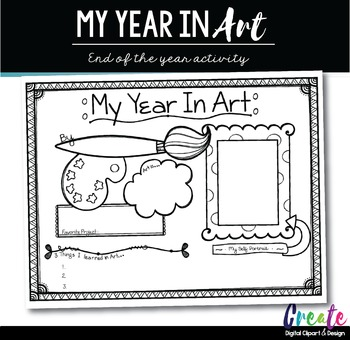 My Year in Art - End of Year Activity