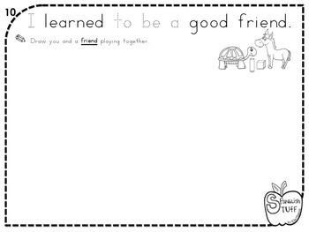 My Year in Kindergarten-Review Book