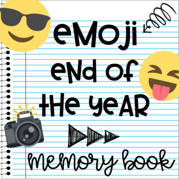 Emoji Memory Book End of the Year Printable Activities