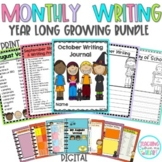DIGITAL Journal Writing, Monthly Writing Prompts, Growing Bundle, End of Year