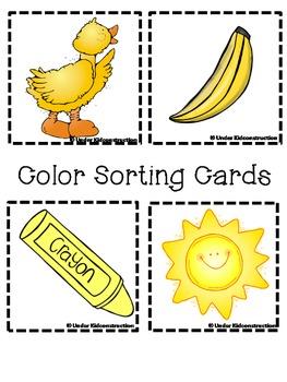 Color Books; Yellow;Includes worksheets;Cut/Paste Activity; Color Sort Center