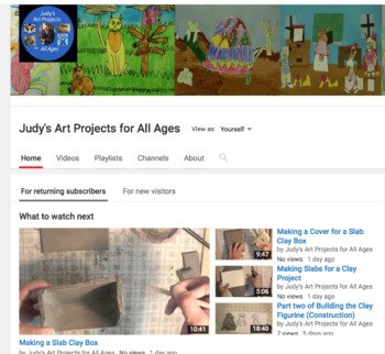 My Youtube Channel: Judy's Art Projects for All Ages