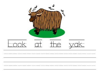 My Yy Book {letter study / sight words Look}