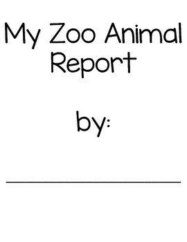 My Zoo Animal Report- Mini Book and Report Pages for Shared Research